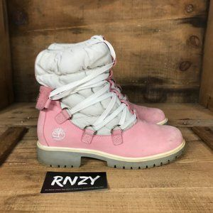 Timberland Waterproof Pink Lace Up Winter Boots